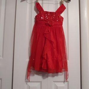 My Michelle Girls Glittery Sheer Dress